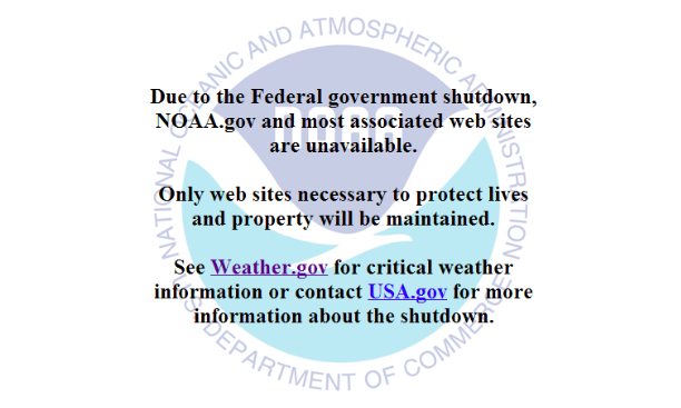 Government shutdown negatively impacting weather forecasts