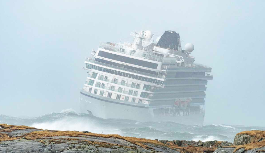 Viking Sky Cruise Ship Runs Into Stormy Seas Off Coast of Norway