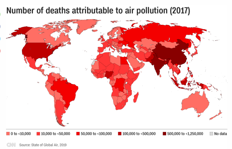 Air Pollution Causes More Deaths Than Alcohol, Malnutrition and Drug Addiction
