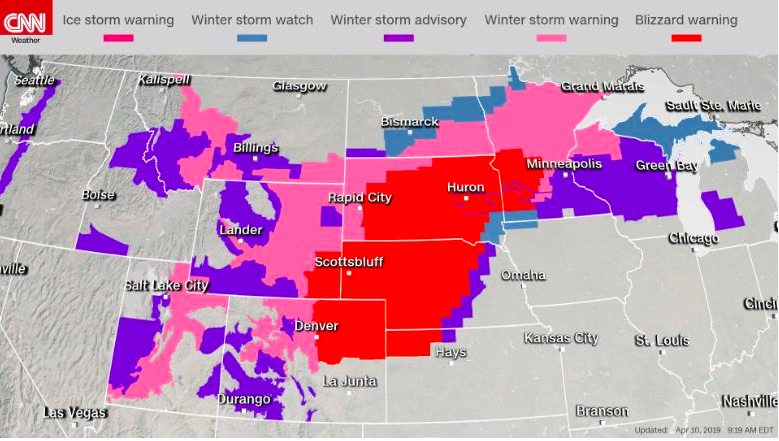 One Frigid Thing: April Blizzard Blasts The Plains
