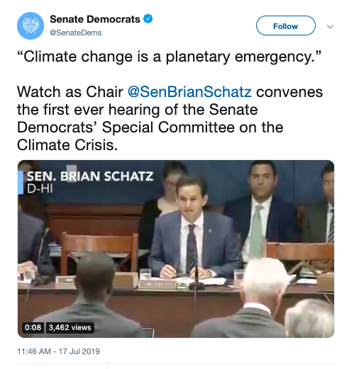 Senate Dems Hold First Climate Hearing Highlighting Actions By Mayors