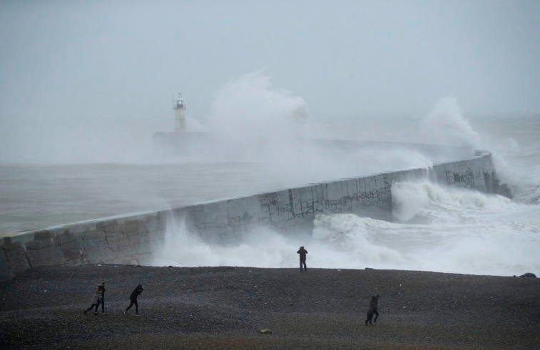 Hurricane Force Winds Batter the U.K. and Europe, Planes Set Speed Records From U.S. to U.K.