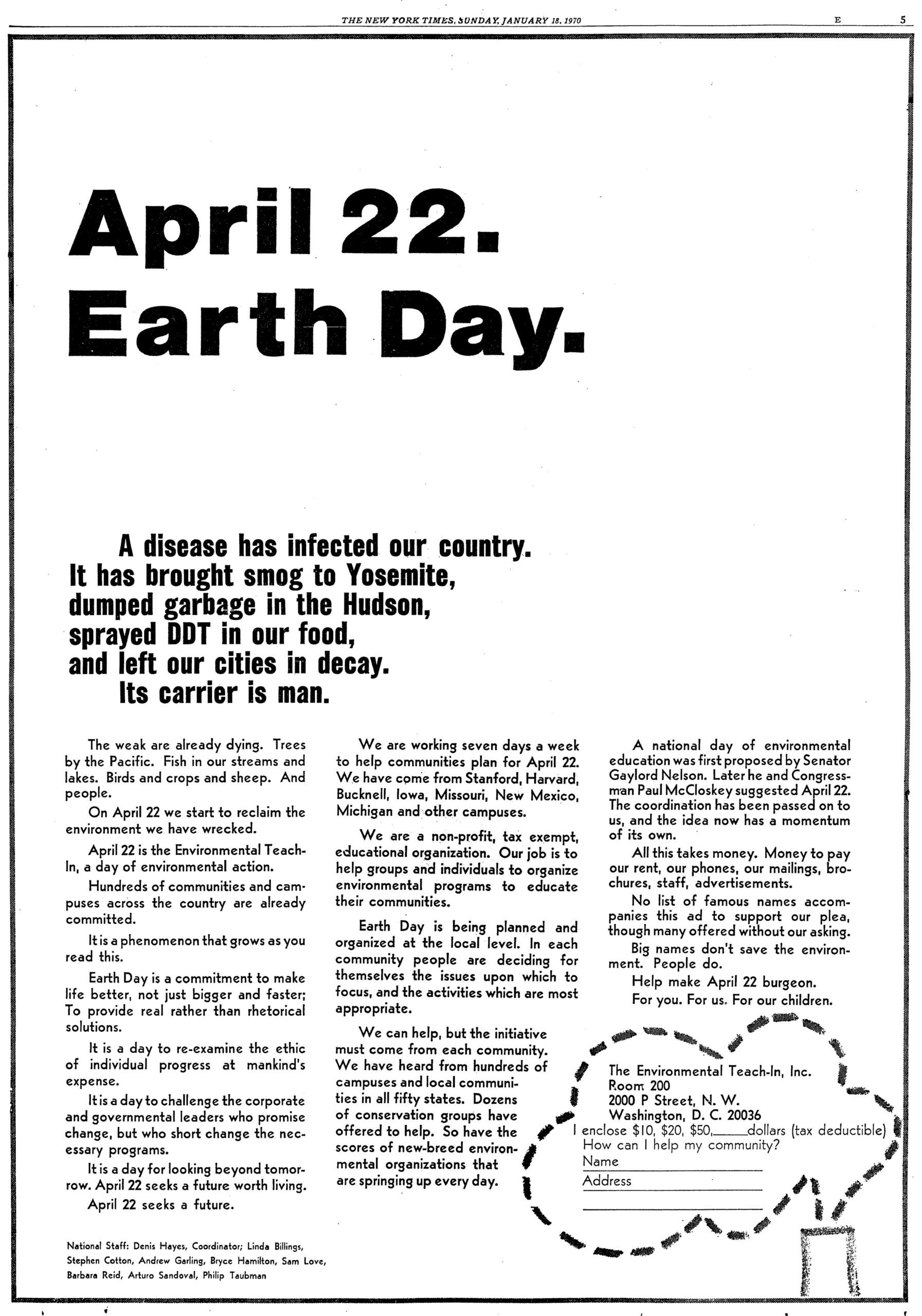 One Cool Thing: Earth Day at 50