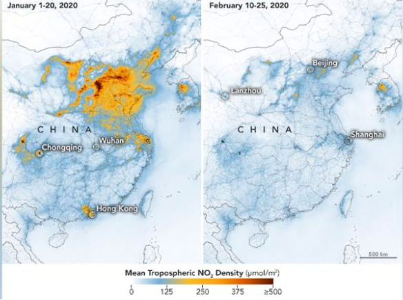 One Less Thing: China's Air Pollution Thanks to Coronavirus Shutdowns