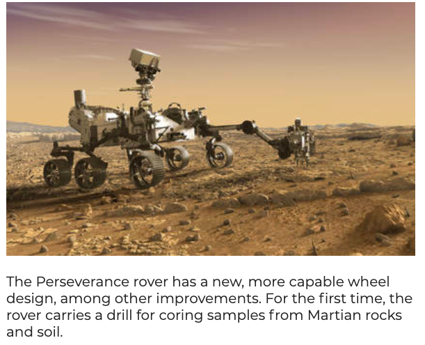 One Cool Thing:  The New Mars Rover Is Aptly Named Perseverance