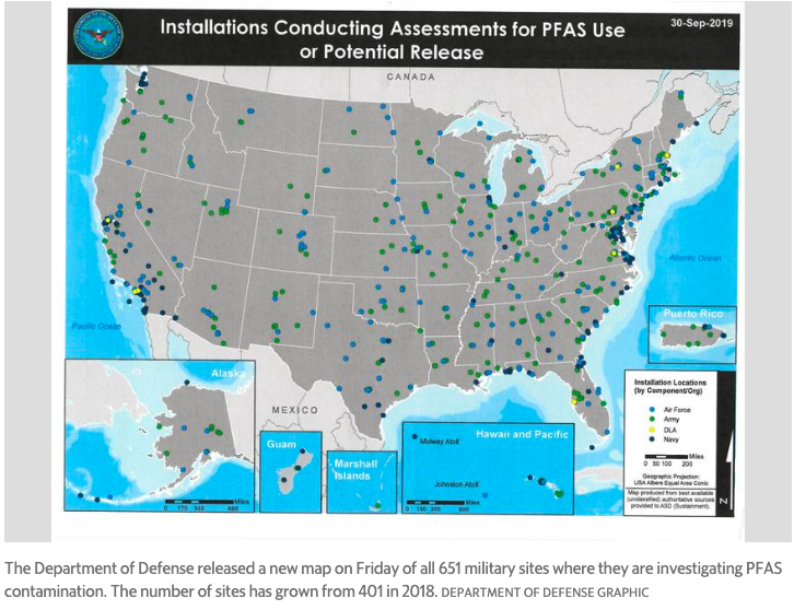 New DoD Study Shows that 250 More Military Installations Have PFAS Contamination