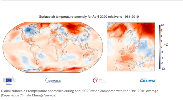 April Ties Record, 2020 Could Be Warmest Year and CO2 Levels Highest in 3 Million Years