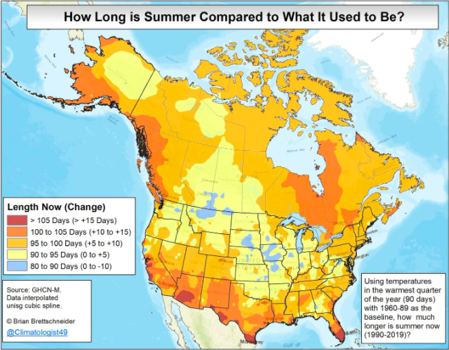 More Evidence of Warming: Hottest May and Longer Summers
