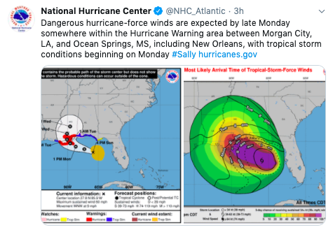 Hurricane Sally Takes Aim At New Orleans, As NOAA Hires Climate Denier for Leadership Post