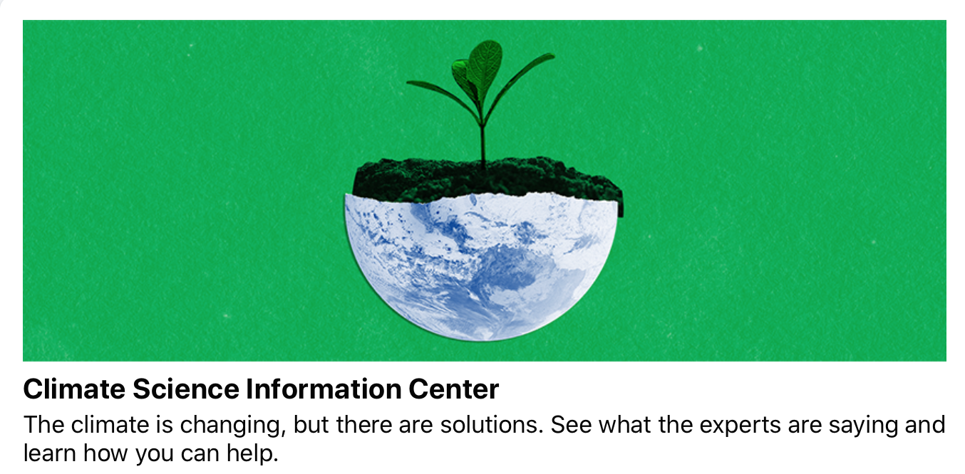 Facebook's New Climate Initiative Doesn't Fight Fake News