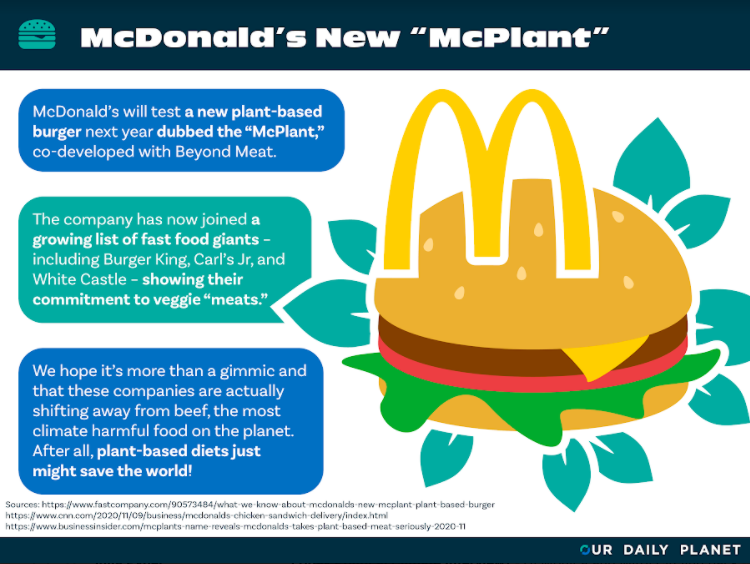 "McDonald's Announces New Meatless ""McPlant"" Burger"