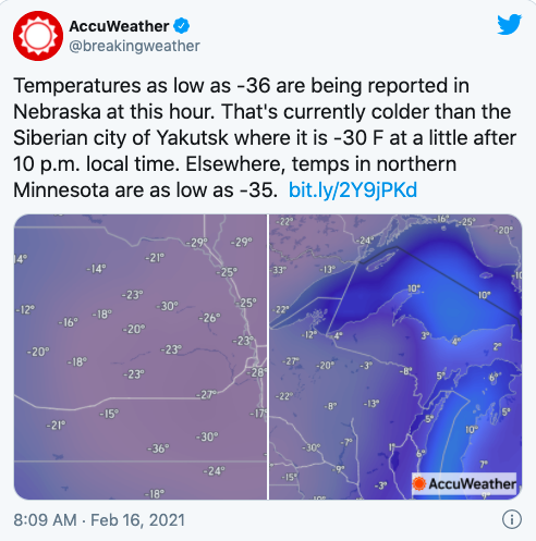 "One ""Cool"" Thing: Minnesota Is Colder Than Siberia"