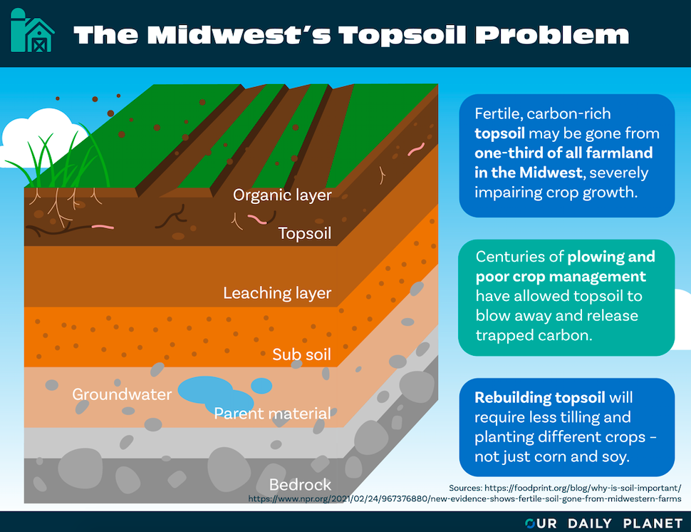One-Third of Topsoil Is Gone From Midwestern Farmland