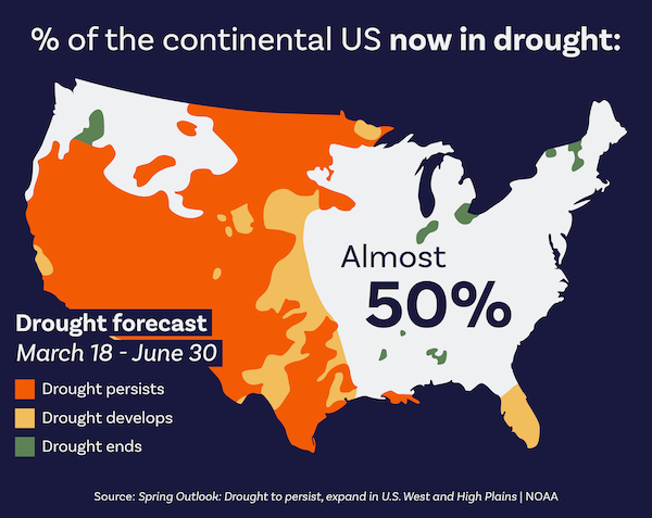 Government Forecast Finds Nearly Two-Thirds of U.S. Experiencing Drought