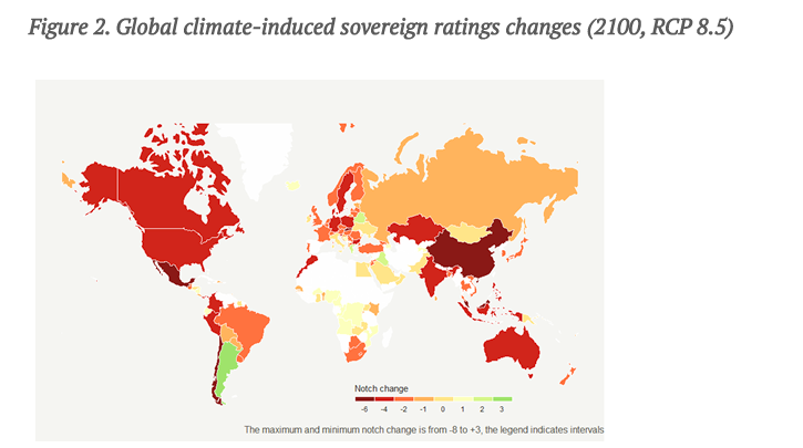 Climate Smart Credit Ratings Would Cause Many Countries to be Downgraded by 2030