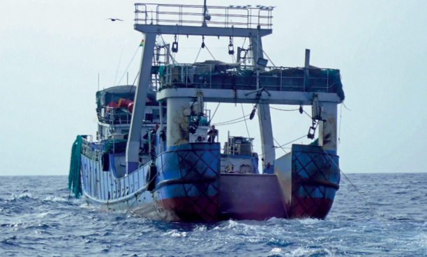 Chinese Trawling Fleet Posing As Domestic Operators Drains Fish from Ghanaian Waters